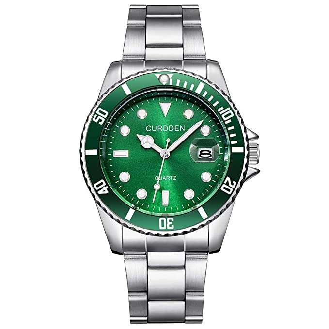 Amazon.com: Men Watches,WoCoo Relojes de Hombre Quartz Full Military Casual Waterproof Wrist Watches Gift for Valentines(Green): Kitchen & Dining