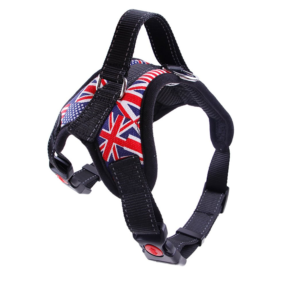 XL Neck girth(2327\ Vest XL  Servcie dog In Training Nylon Dog Vest Harness-Reflective Vest wih Comfortable Handle for Large Medium Small Dogs