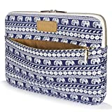 CoolBELL 11.6 Inch Laptop Sleeve Case Cover With Elephant Pattern Ultrabook Sleeve Macbook Canvas Bag For Ultrabook/Tablet/Macbook Pro/Macbook air/Surface RT/Surface Pro2/3/women/men,Blue