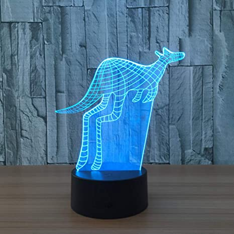 wangZJ Lámpara de mesilla de noche con ilusión 3d / Lámpara de ...