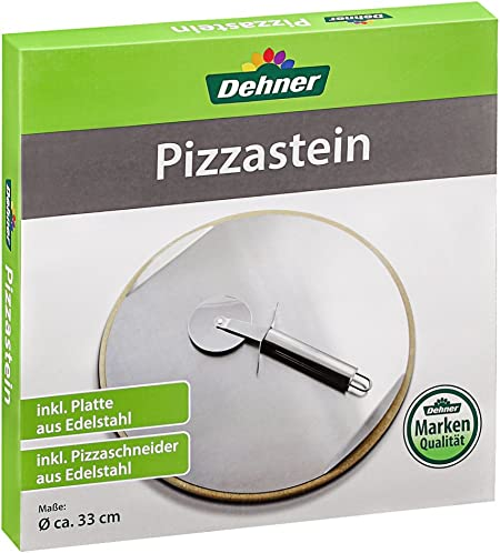 Pizzastein für Grill und Backofen, Ø 33 cm, inkl. Pizzaschneider