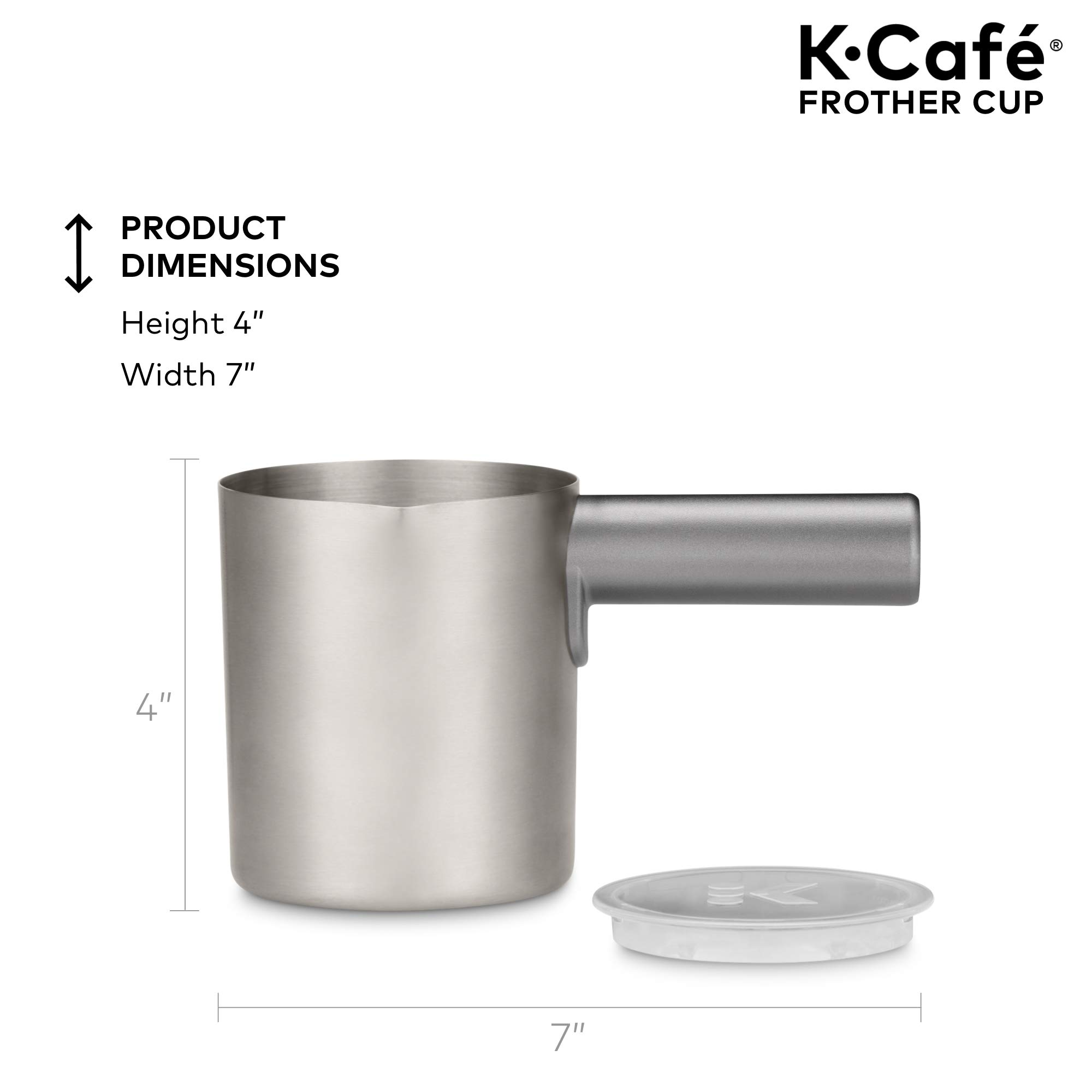 Keurig K-Café Milk Frother, Works with all Dairy and Non-Dairy Milk, Hot and Cold Frothing, Compatible with Keurig K-Café Coffee Makers Only, Nickel by Keurig (Image #4)
