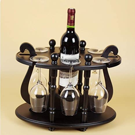 WEII Estante para Vinos Portavasos de Madera Creativa Porta Estantes para Vino Estante de Almacenamiento Decorativo