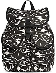 Dickies Cotton Canvas Gypsy Top Flap Knapsack, Black Modern Ikat