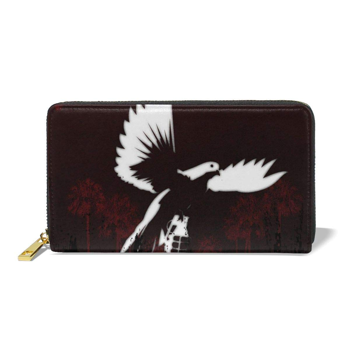 XJLGGMHDS Hollywood Undead Unisex Wallet Zipper Closure Card Slots Zippered Coin Pouch