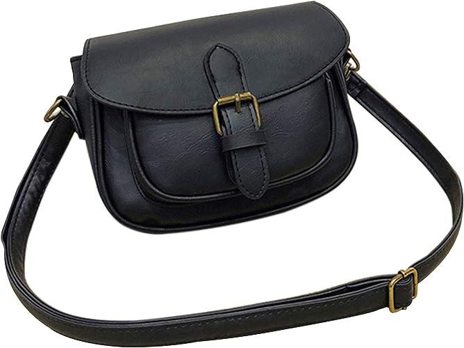 Crossbody Bag and Small Satchel Purse for Women Vintage Saddle Handbag and Bag