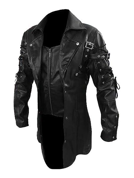 Amazon.com: Gothic Steampunk - Chaqueta de piel gótica para ...