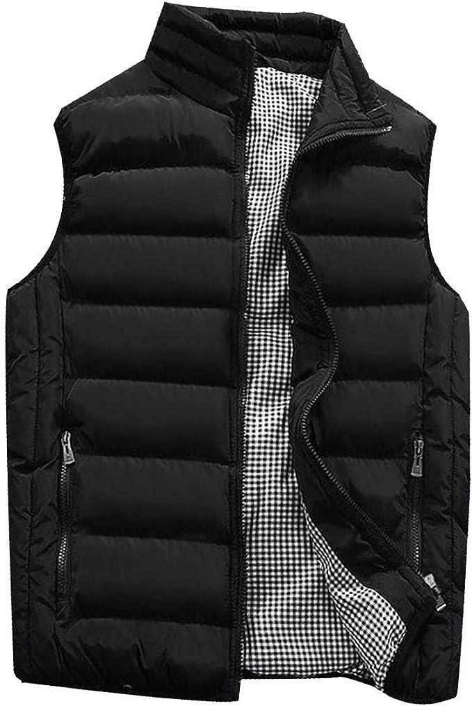 Men/'s Down Cotton Vest Waistcoat Autumn Winter Outwear Padded Jacket Light Coat