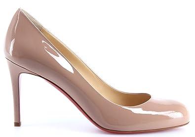 Women Shoes CHRISTIAN LOUBOUTIN Paris Decollete Simple Pump 85 Patent Calf  Nude 178383961