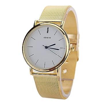 El mundo de la moda Chinatera Relojes de banda de acero inoxidable de cuarzo reloj de