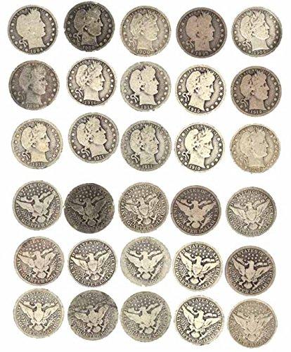 1892 Various Mint Marks - 1916 90% Silver - Quarter Of Dollar