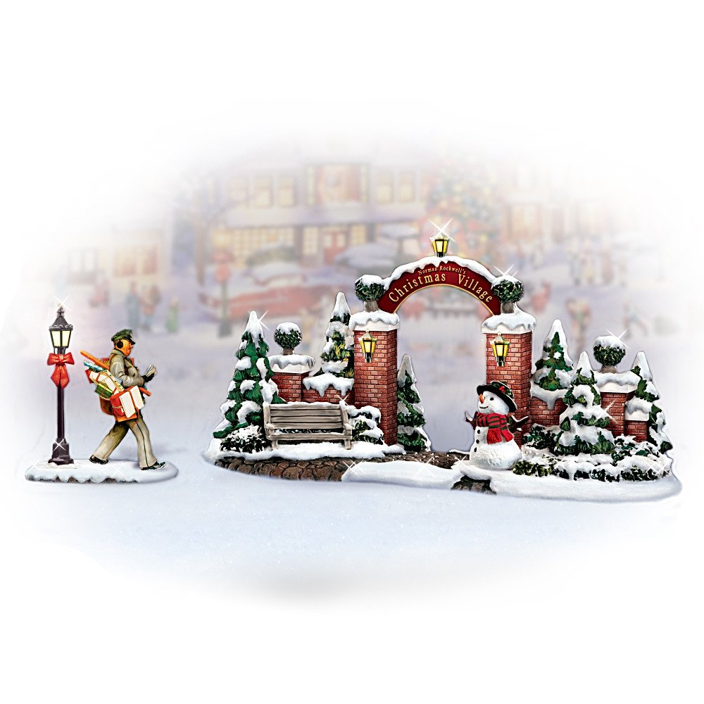 Amazon.com: Norman Rockwell\'s Christmas Village Gate Village ...