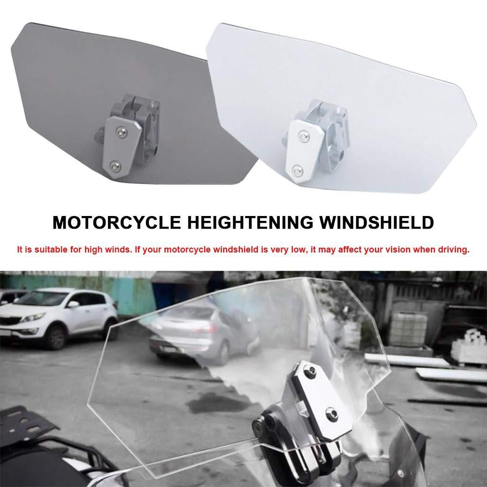 mooderff Universal Spoiler Motorrad Verstellbarer Spoiler Windschutzscheibe Spoiler Windschutzscheibe Zubeh/ör Windschild Spoiler-Aufsatz Windschutzscheibe Verl/änger