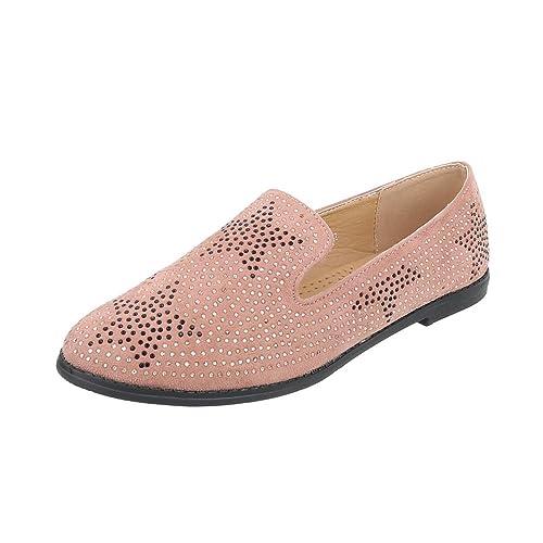 Zapatos para mujer Mocasines Tacón ancho Slipper Rosa Tamaño 41: Amazon.es: Zapatos y complementos