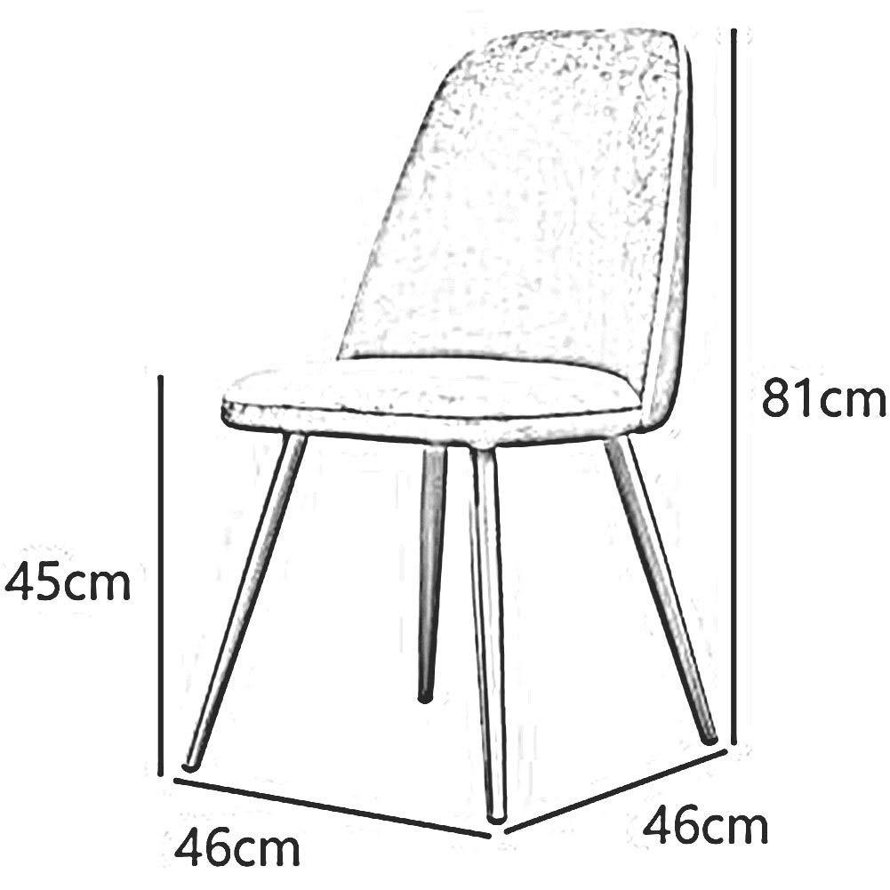 JIEER-C Fritidsstolar matstolar moderna ryggstöd bordsstol stoppad guld metall ben sovrum vardagsrum halkfri lätt att montera hållbar stark Svart