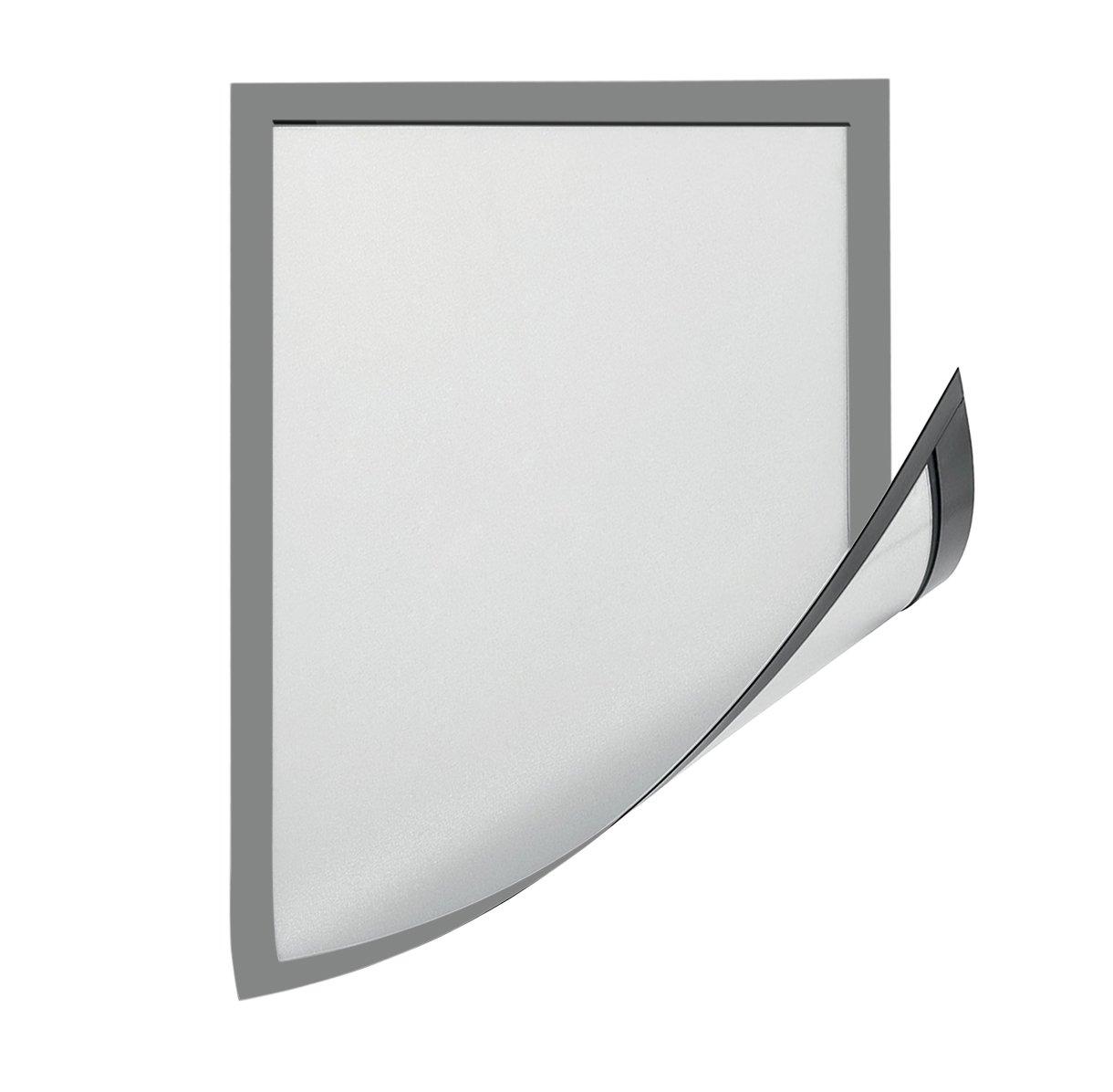 6xA3 Grey Magiboards solo magnetico Paper holder-ph