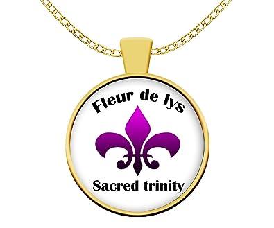 Yoga collar - Fleur de Lis sagrado Trinity - joyas, joya de ...
