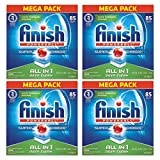 Finish All In 1 Powerball Dishwasher Detergent Tablets, Fresh, 85 Count - Pack of 4