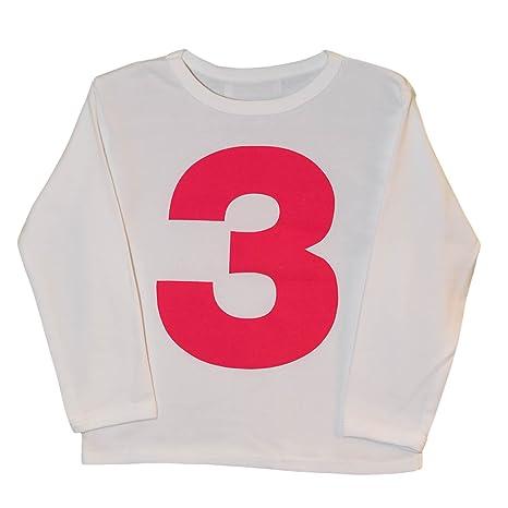 I Am 3 T Shirt, Blanco y Rosa, diseño de Tercer cumpleaños ...