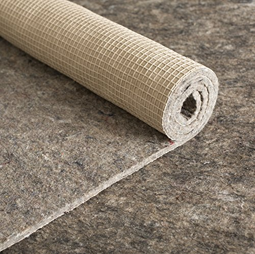 Rug Pad Central 6x6-Feet Square 1/8'' Thick Felt and Rubber Rug Pad - 6 Square Rug