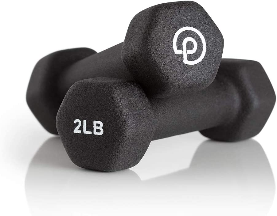 P.volve 2 lb. Hand Weights - Workout and Exercise Equipment for Home Workouts and Fitness
