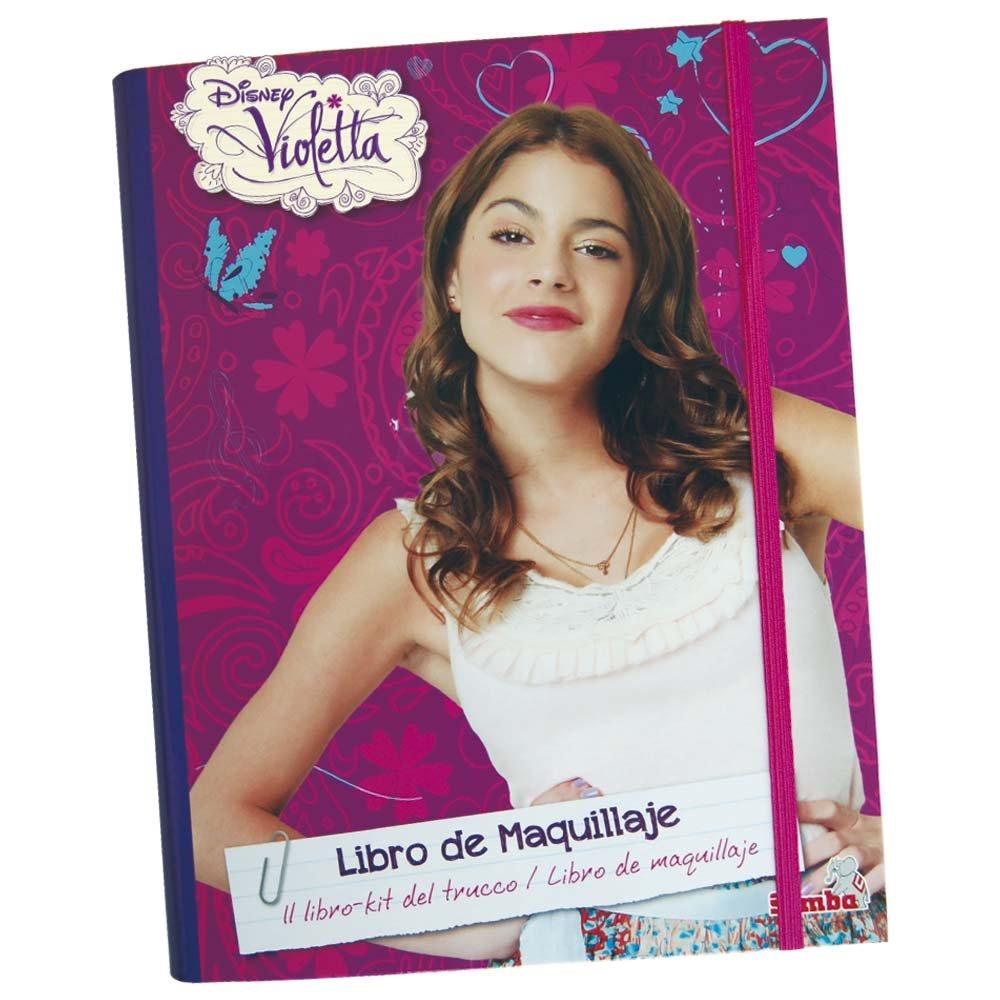 Violetta - Libro maquillaje creativo (Simba 5017733) adolescente aplicador colorete decorada disney infantil lapices pegatinas pintar plantilla serie sombra violeta