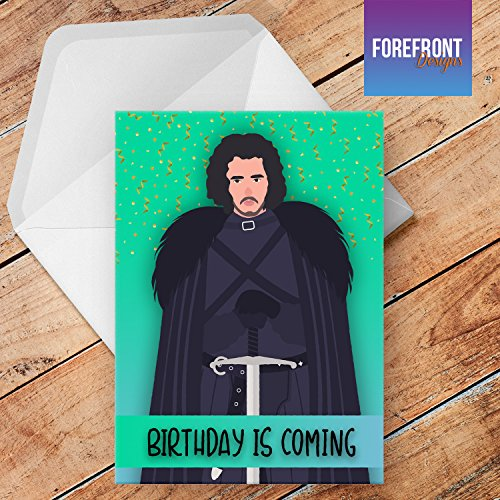 Jon Snow Game Of Thrones Birthday Card A5 Personalised