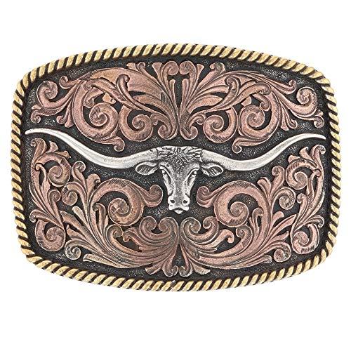(Montana Silversmiths Tri-Color Texas Longhorn Attitude)