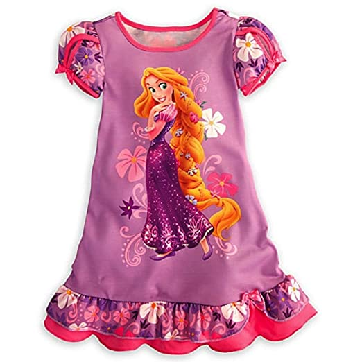 aa648edb764a Image Unavailable. Image not available for. Color  Disney Rapunzel Girls  Nightgown ...