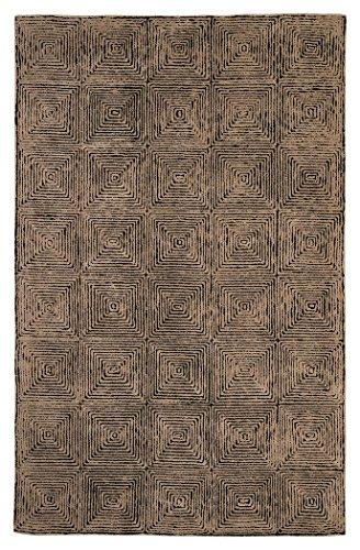 Ashley Furniture Signature Design - Kanan Large 8'x10' Rug - Contemporary - 100% Wool - Taupe/Black - Plush 10' Bright Eyes