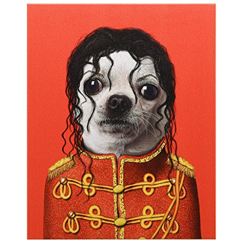 "Empire Art Direct Pets Rock Pop Graphic Wrapped Dog Canvas Wall Art 20"" x 16"" x 2"", Ready to Hang"