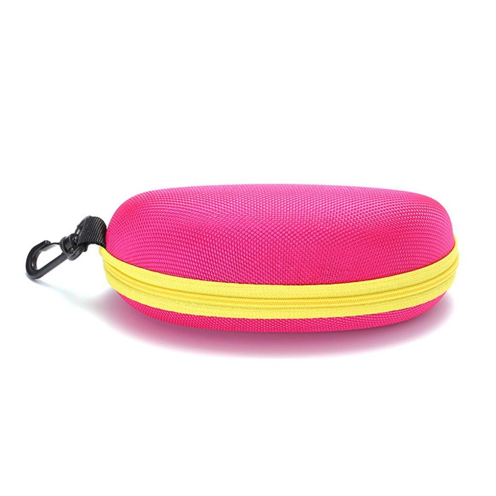 Liping Cloth Portable Zipper Eye Shell Hard Case Protector Box for Spectacle Sunglasses Reading Glasses Eyewear (Pink)