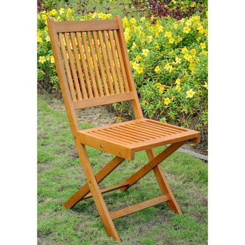 International Caravan TT-VN-0128-Chr-IC Furniture Piece Royal Tahiti Set of 2 Outdoor Folding Garden Chair ()