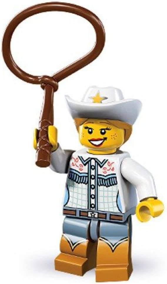 Lego Series 8 Cowgirl Mini Figure