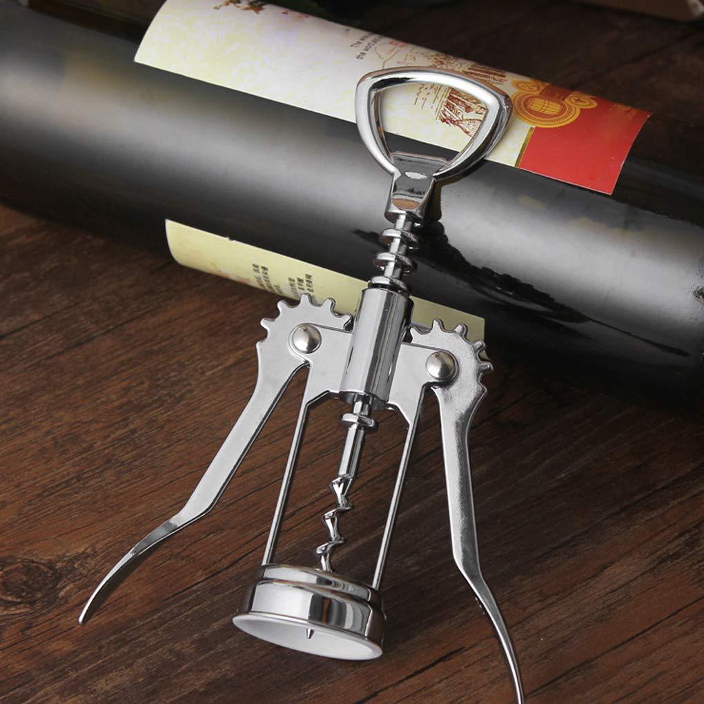 Beaums Rouge ouvreur de vin en alliage de zinc m/étal Tire-bouchon /à vin Bouteille de bi/ère d/écapsuleur Bar Outils