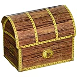 Beistle 50368 4-Pack Pirate Treasure Chest Favor Boxes, 3-1/2-Inch by 4-1/4-Inch