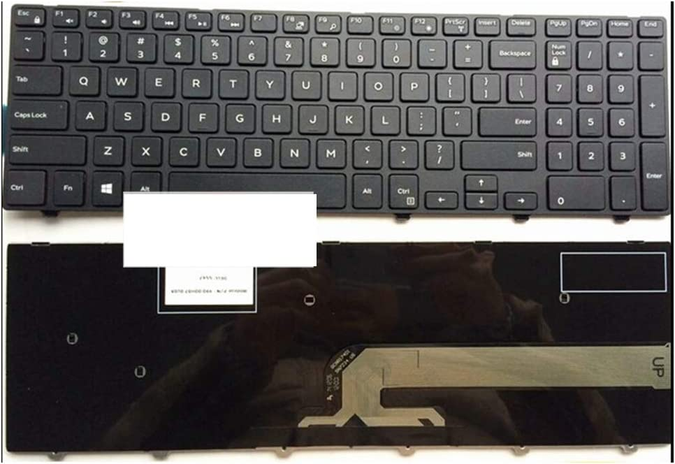 US Black New English Replace laptop keyboard For DELL For INSPIRON 15R-3542 15MR-1528 N5547 N5545 5545