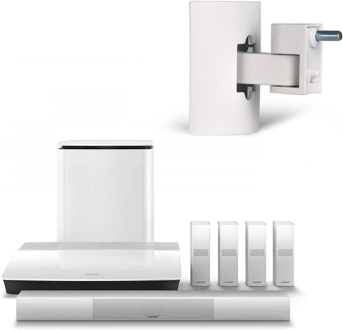 Bose Lifestyle 600 Home Entertainment System with UB-20 Series II Wall//Ceiling Bracket White
