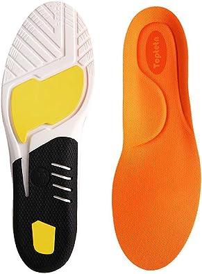 TOPTETN Inserciones de fascitis plantar, plantillas de zapatos ortopédicos para hombres y mujeres, plantillas de confort atlético Absorción de choque adicional Plantillas de trabajo (L:41-45): Amazon.es: Zapatos y complementos