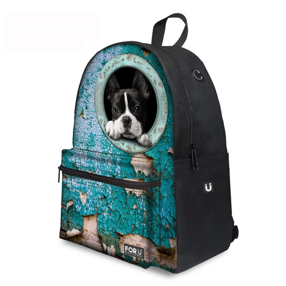 Amazon.com | French Bulldog Backpack School Bags Daypacks School Bags for Teenagers Women Men Travel Laptop Rucksack | Backpacks