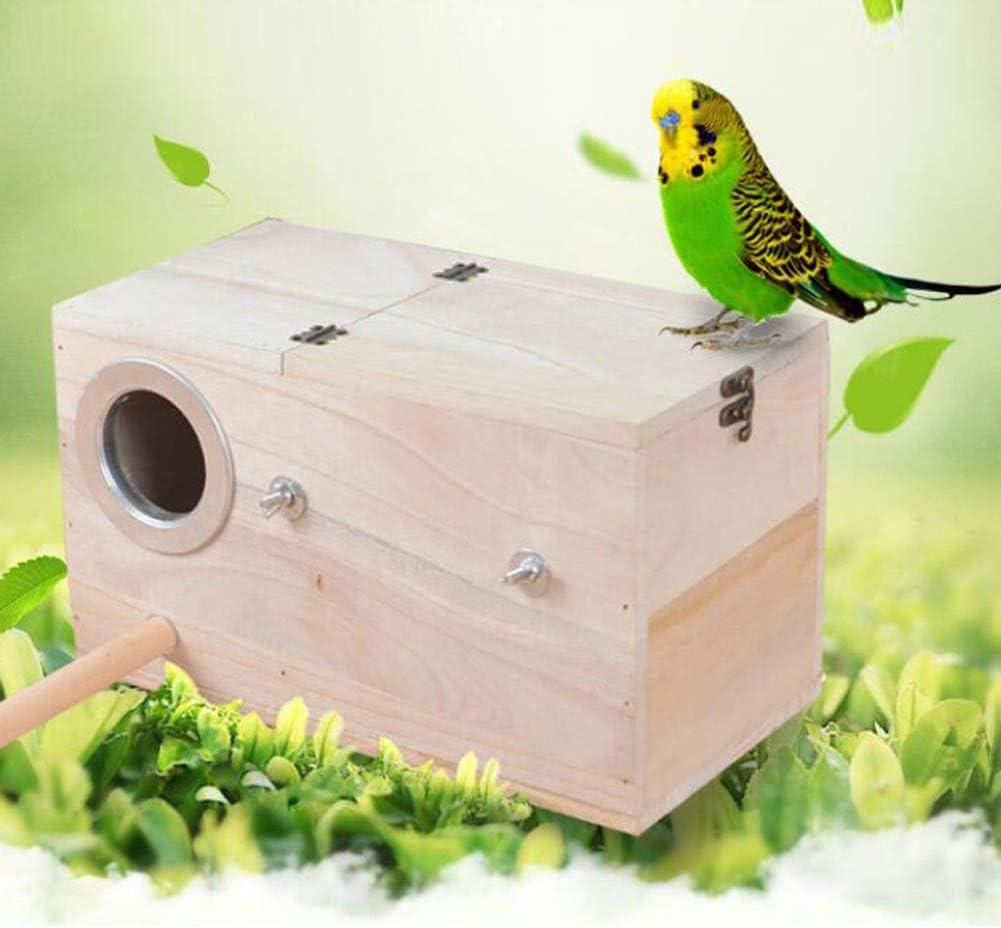 EMVANV - Caja de Madera para Nido de pájaros Silvestres