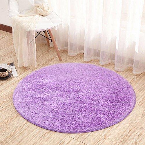 Noahas 4-Feet Luxury Round Area Rugs Super Soft Living Room Bedroom Carpet Woman Yoga Mat, Purple