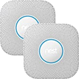Nest Protect smoke & carbon monoxide alarm, Wired (2nd gen) Bundle - Two Nest Protects and $10 Amazon Gift Card
