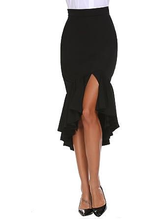 2901c2836541 Women Stretch Mermaid Bodycon Pencil Midi Skirt at Amazon Women's ...