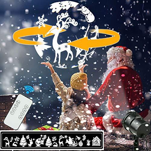 Luces de Proyección de Navidad, 3D Estéreo giratorio proyector de ...