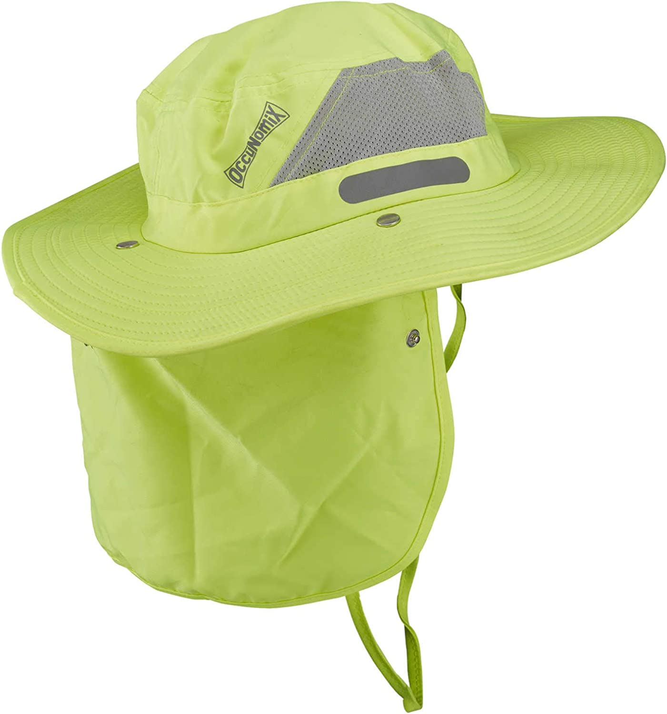 OccuNomix Tuff & Dry Wicking & Cooling Hi Viz Yellow Ranger Hat with Neck Shade - XLarge - TD500-HVY-XL