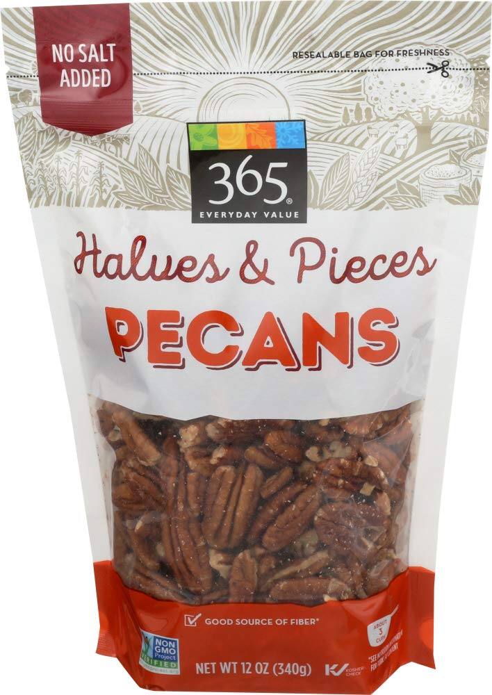365 Everyday Value Pecans, Halves, 12 Ounce