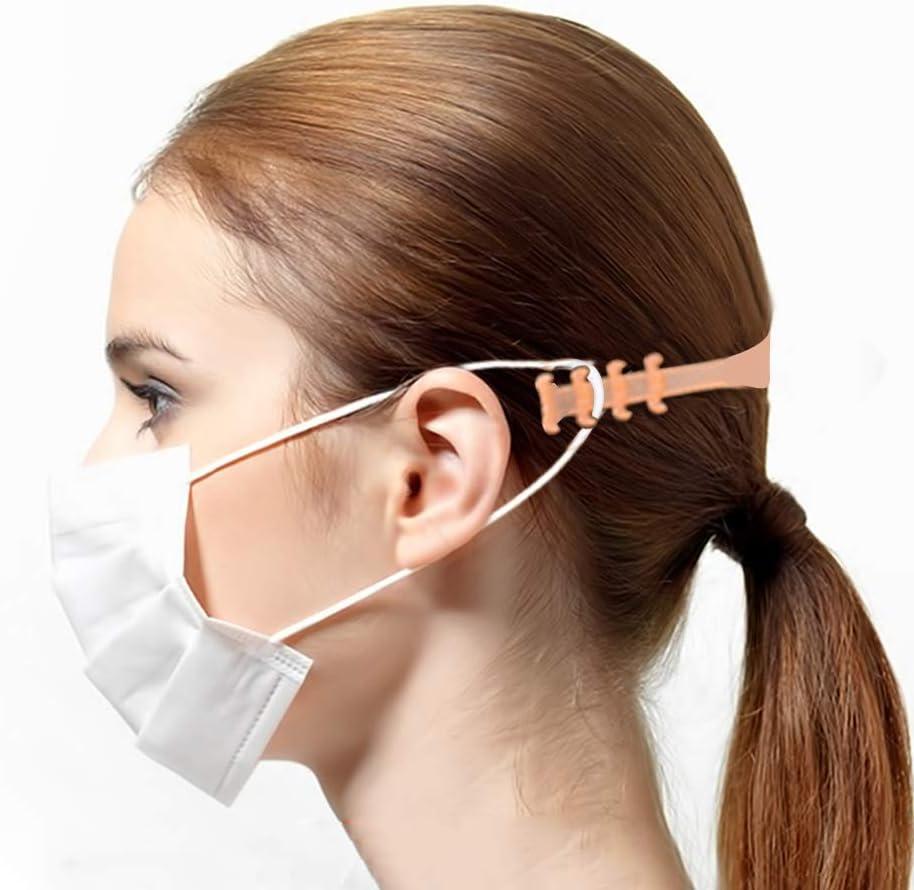 langes Ohrmaskenseil lindernde Ohrenschmerzen Hospaop Maskenverl/ängerungsschnalle,Maskenverl/ängerungsschnalle verstellbare Schnalle mit Maskenhaken Maskenhaken geeignet f/ür Verschiedene Masken