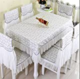 ZnzbztContinental idyllic lace courage empty fabrics Dining Tables Table Cloth cover towel ~round-table tablecloth shawl, White Maple love gray ,150200 (tablecloths)