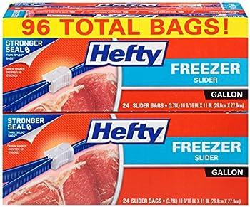 96 Count Hefty Slider Freezer Bag